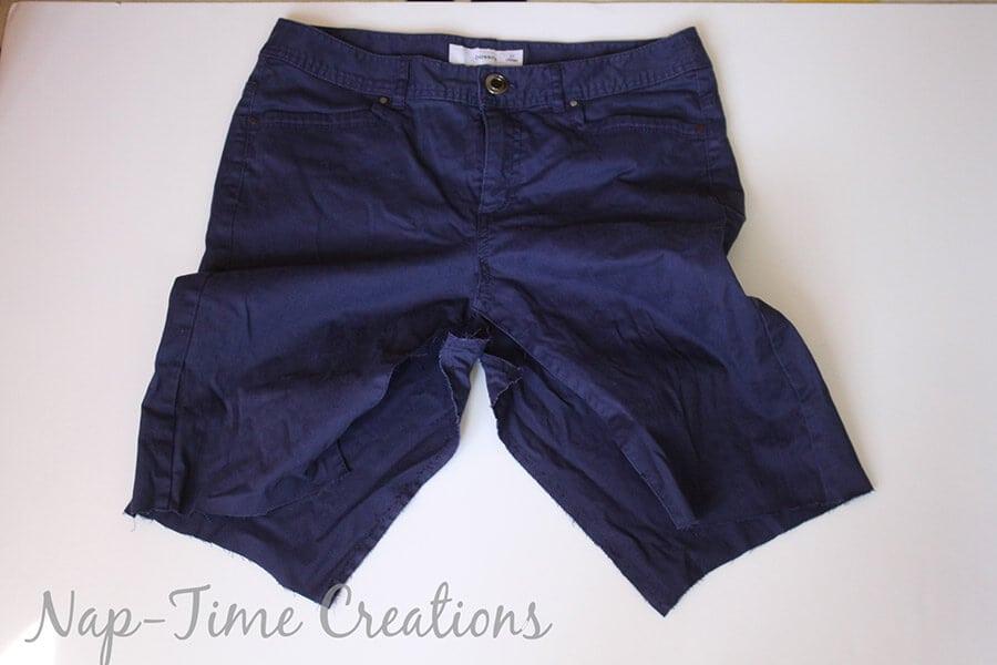 pants to skirt refashion tutorial9