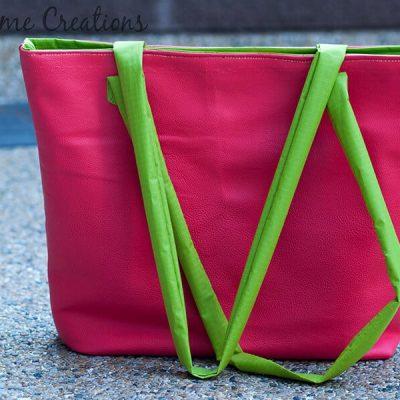 Pleather Summer Tote Bag – Free Pdf Pattern