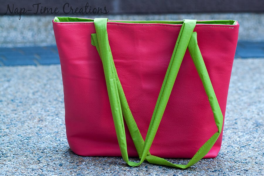 pleather tote bag free pattern5