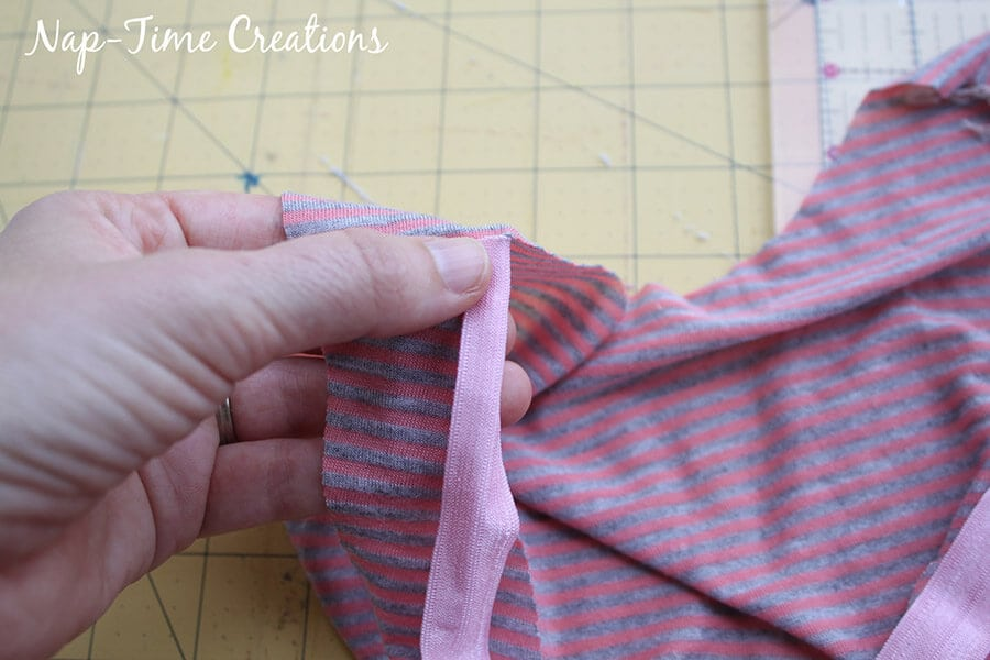tank dress sewing tutorial with fold over elastic