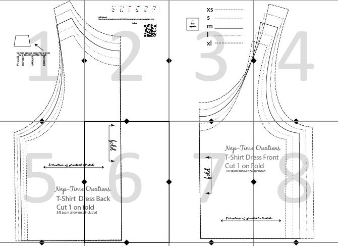 tank dress pattern layout