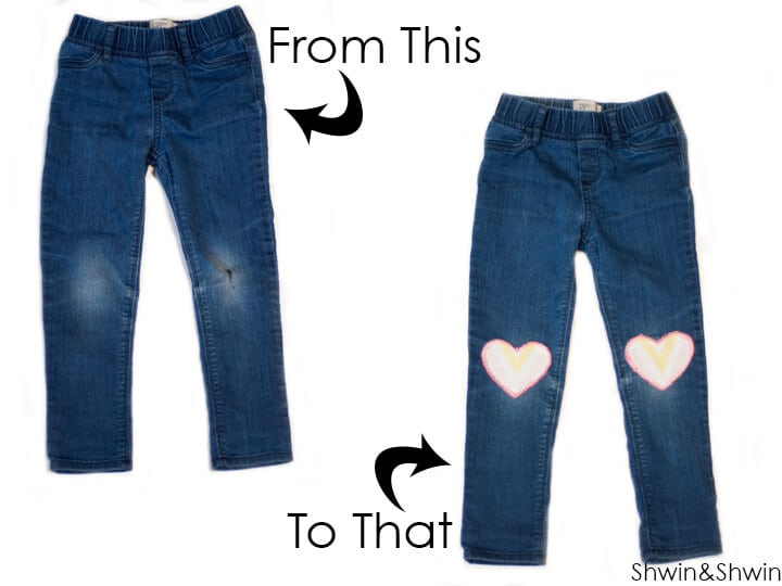 How to patch kids pants