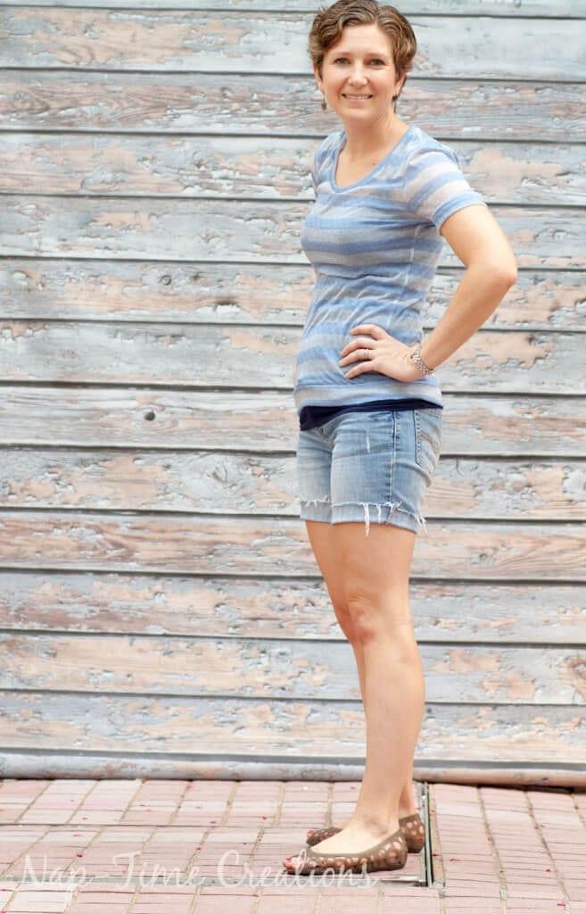 women's free summer t-shirt pattern2