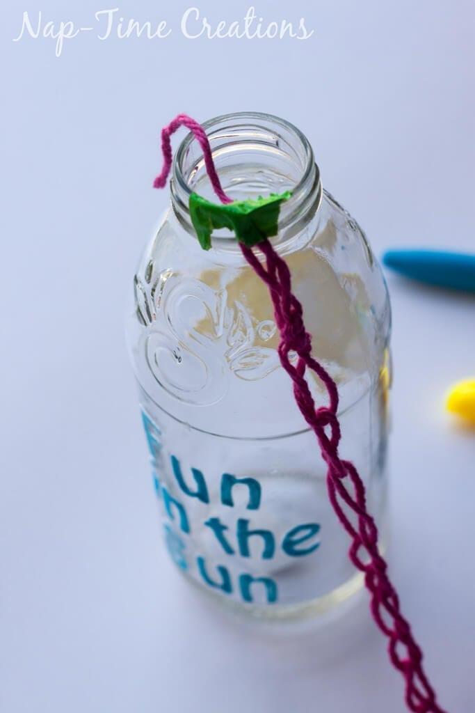 Finger Crochet Bottle Holder 10