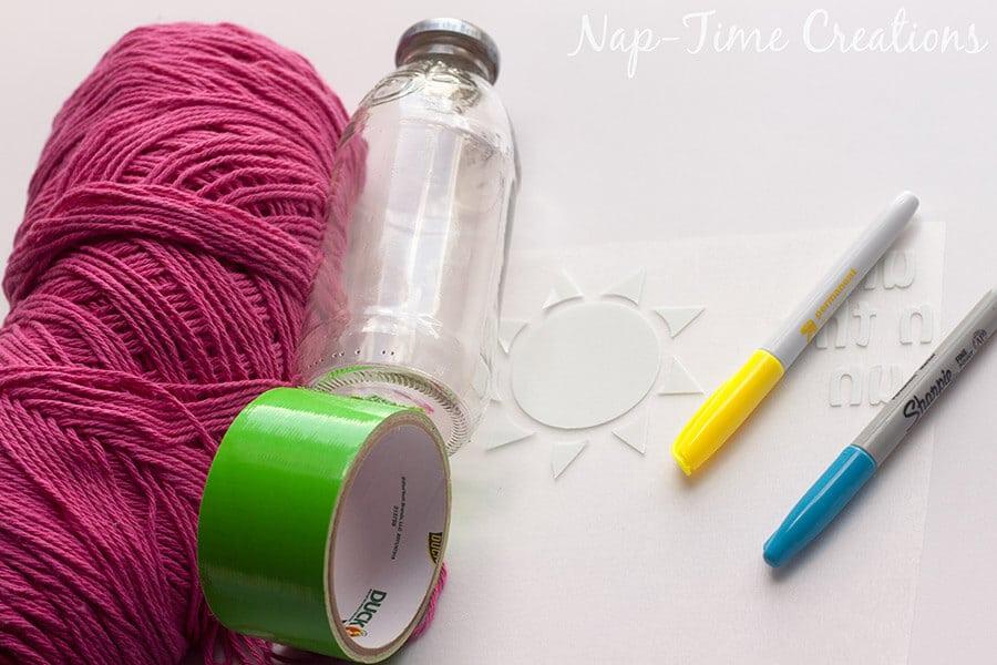 Finger Crochet Bottle Holder 14