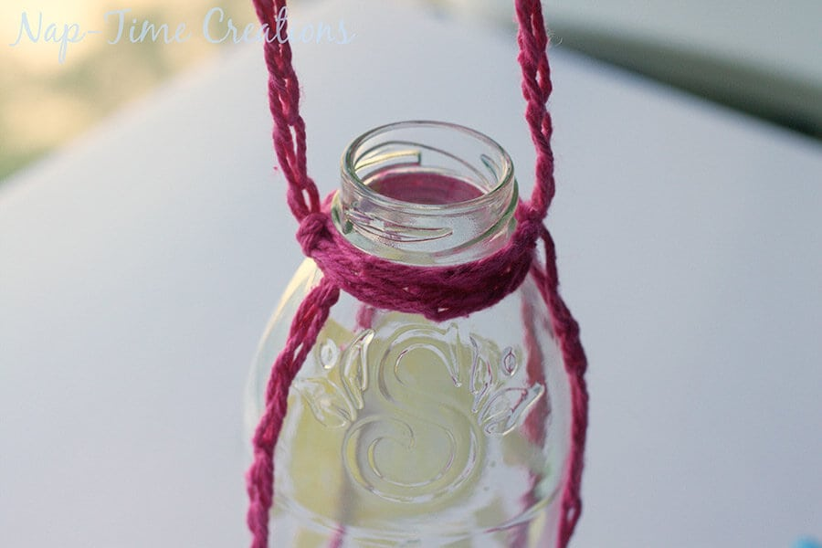 Finger Crochet Bottle Holder 15