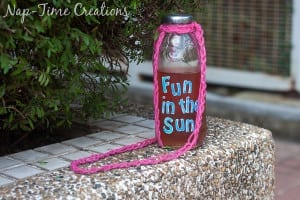 Finger Crochet Bottle Holder 3