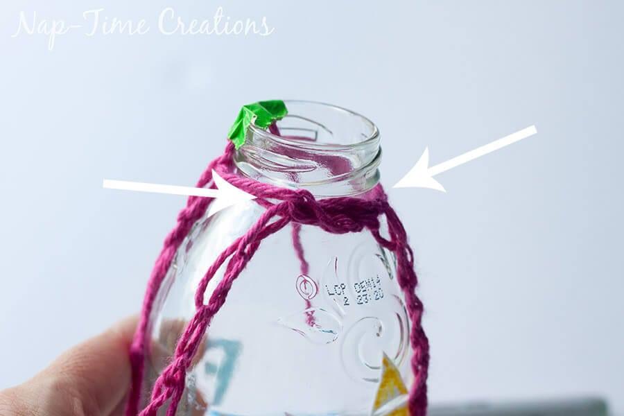 Finger Crochet Bottle Holder 6