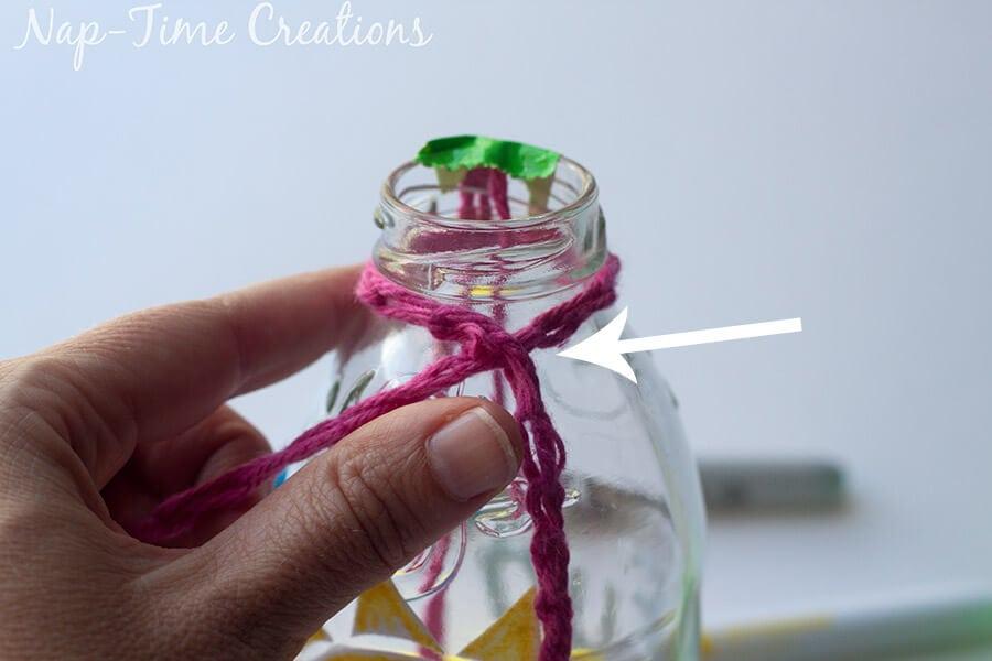 Finger Crochet Bottle Holder 7