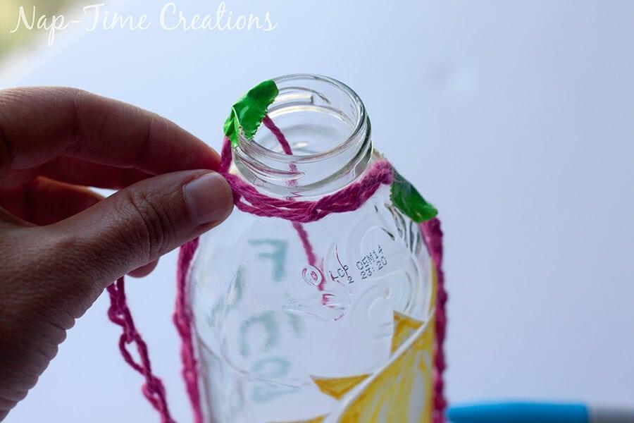 Finger Crochet Bottle Holder 9