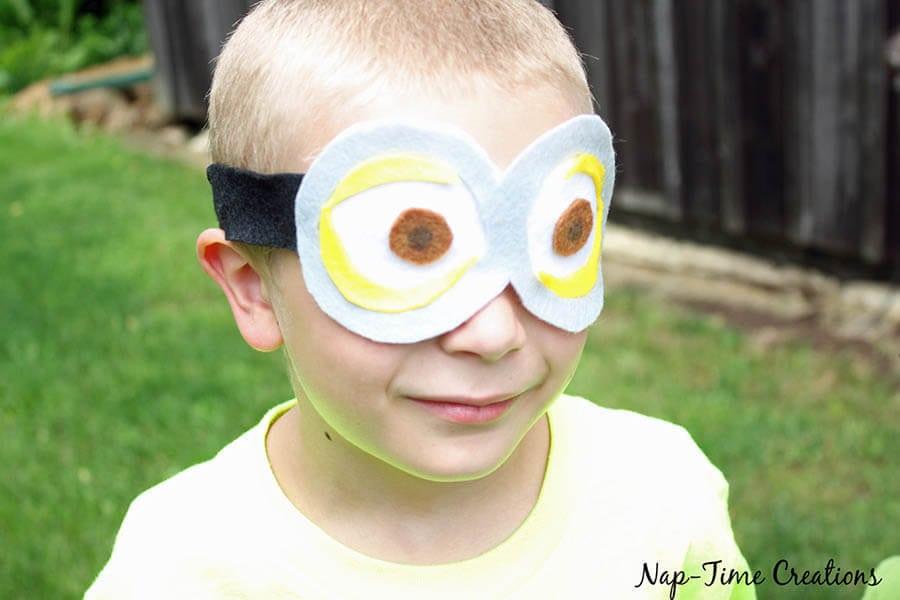 no sew felt minion goggles 3