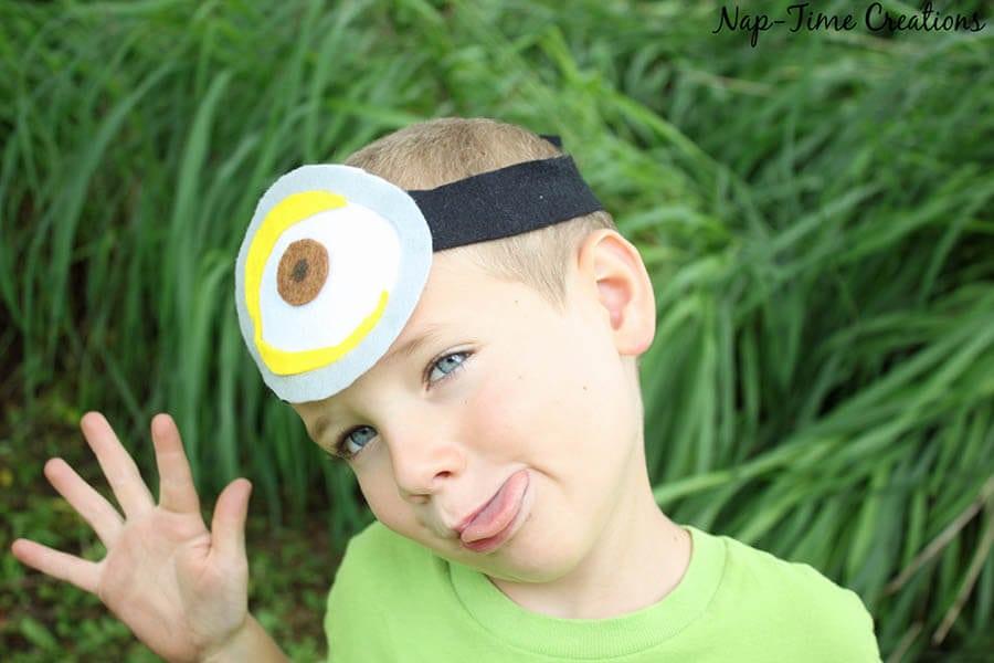 no sew felt minion goggles 4
