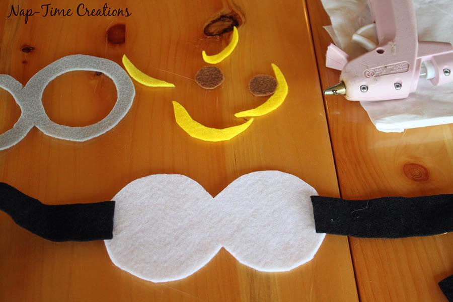 no sew felt minion goggles 6