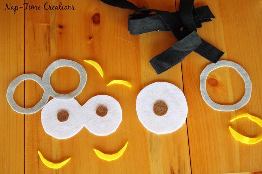 no sew felt minion goggles 9