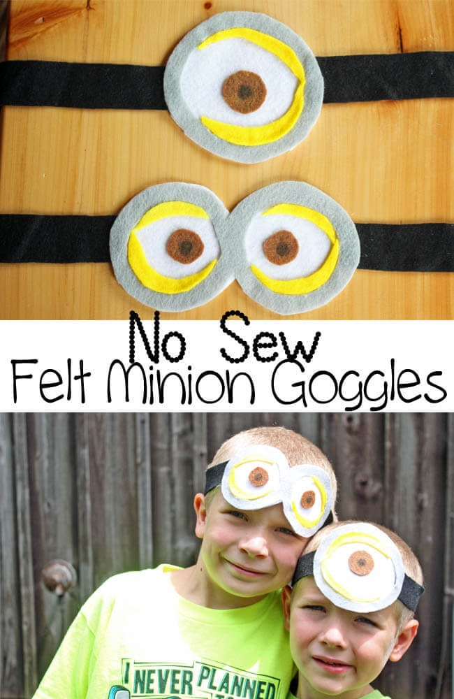 no sew felt minion goggles from Nap-Time Creations #The7thMinion #Ad