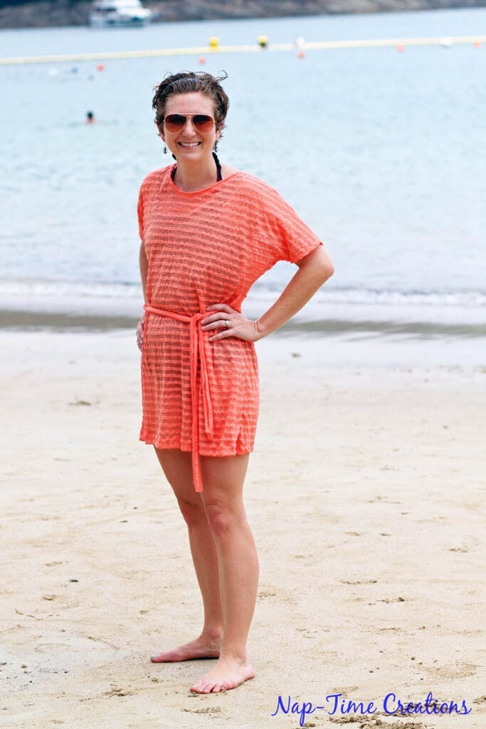 womens swim cover free pattern and tutorial in sizes xs-xxl from Nap-Time Creations 1