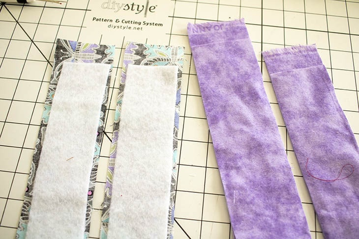 fusible fleece in straps