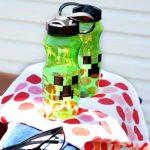 Minecraft Water Bottle DIY and Summer Fun Series