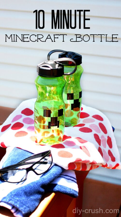 Make your own Minecraft Water Bottle designs with this 10 minute DIY from diy-crush.com Summer Fun 5 with a Minecraft Water bottle DIY and loads of other fun. From Nap-Time Creations
