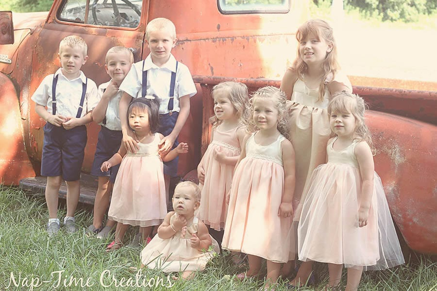 Children's wedding outfits handmade inspiration