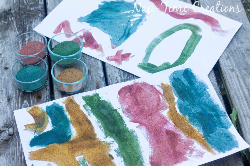 diy colored sand - with sandbox sand, tutorial from Nap-Time Creations 1