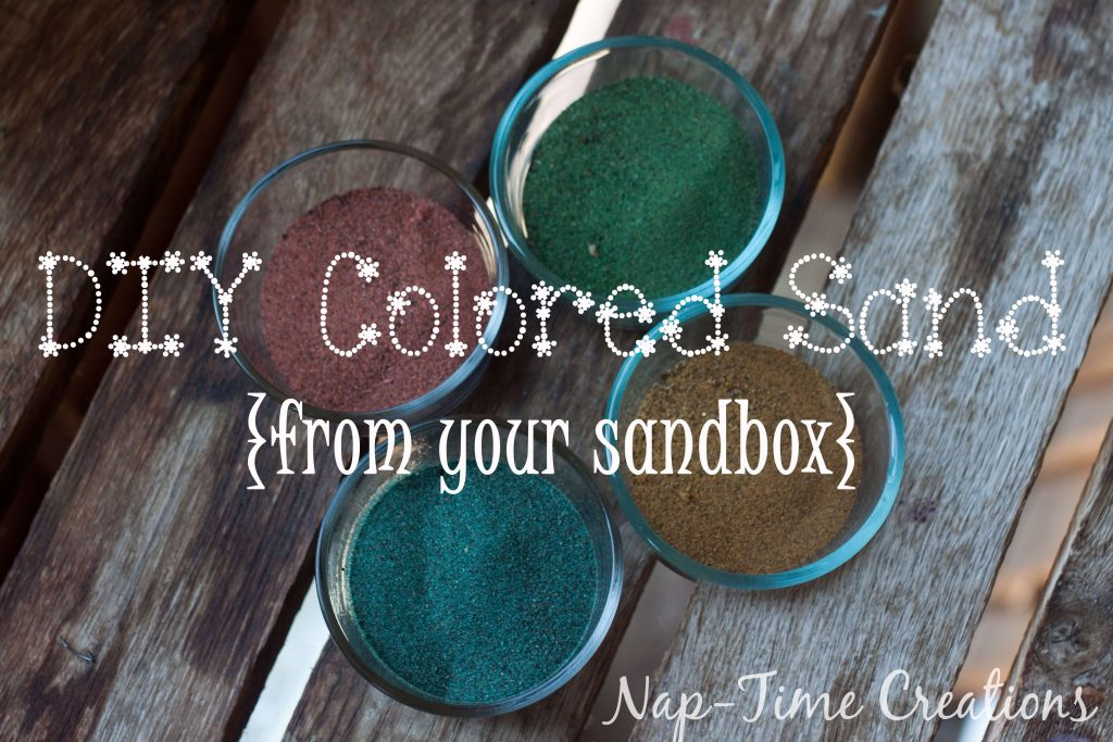 diy colored sand - with sandbox sand, tutorial from Nap-Time Creations