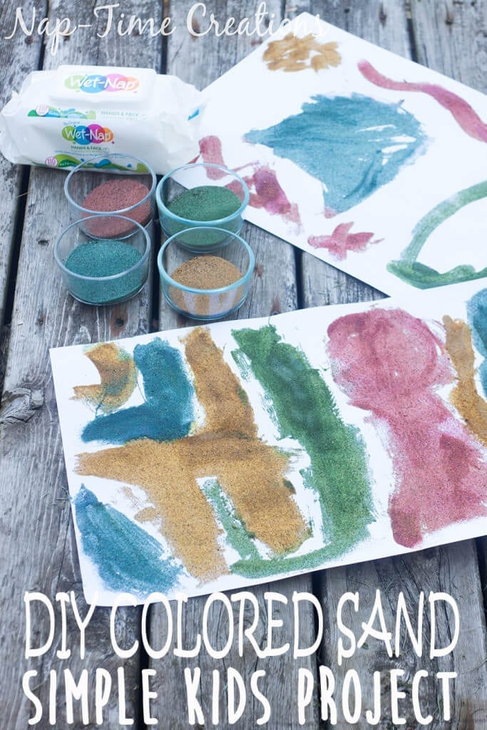 diy colored sand - with sandbox sand, tutorial from Nap-Time Creations #ConquerTheMess #Pmedia #ad