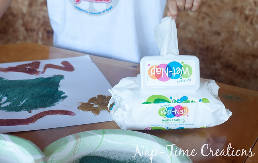 diy colored sand - with sandbox sand, tutorial from Nap-Time Creations 3