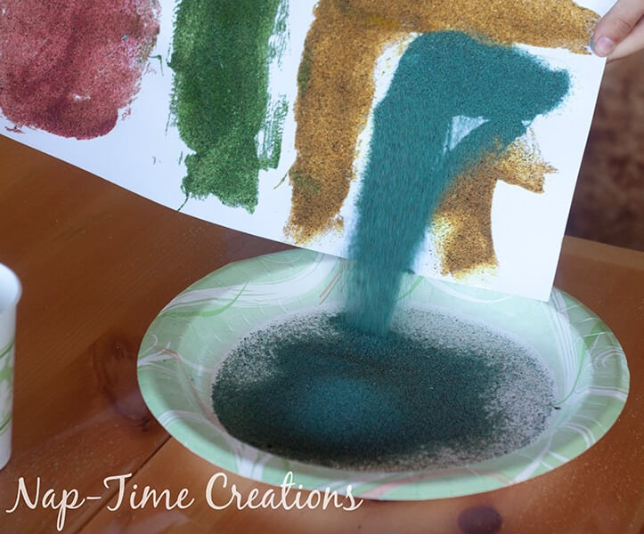 diy colored sand - with sandbox sand, tutorial from Nap-Time Creations 4