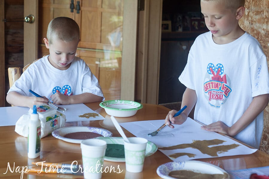 diy colored sand - with sandbox sand, tutorial from Nap-Time Creations 7