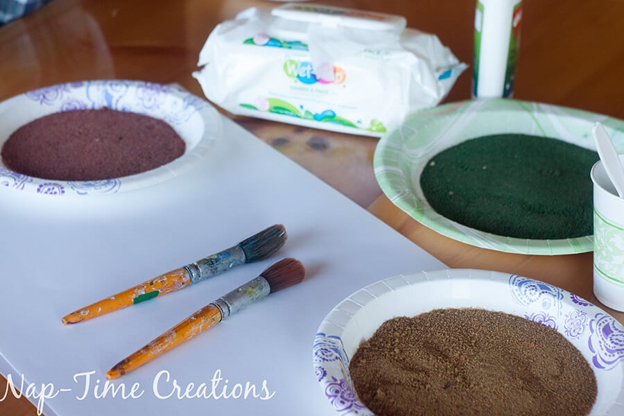 diy colored sand - with sandbox sand, tutorial from Nap-Time Creations 9