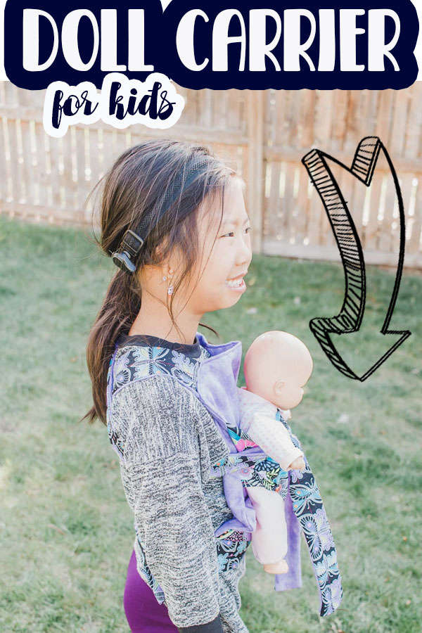 a baby doll carrier free pattern in two sizes. Your kids can wear their baby dolls or animals tow ways - facing in or facing out for fun play. printable pdf pattern