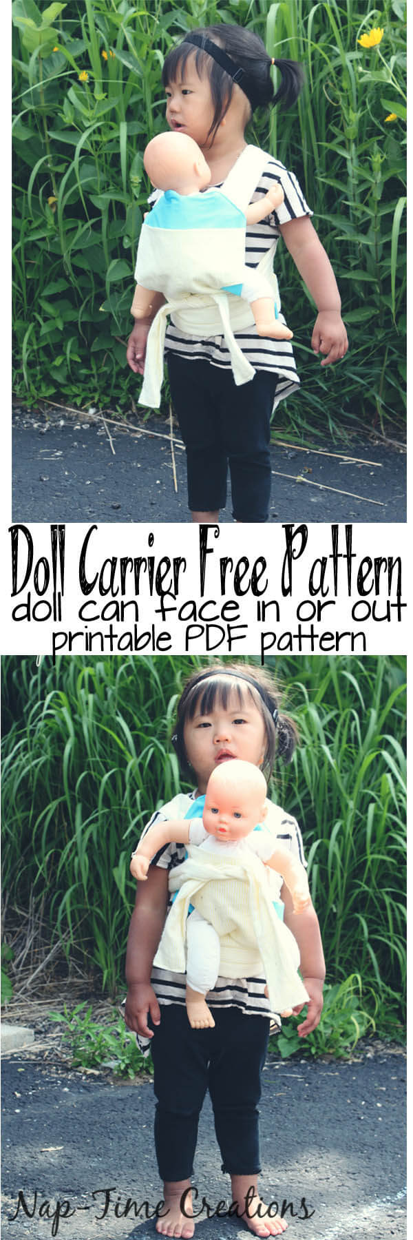 doll carrier free pdf pattern and tutorial from Nap-Time Creations 1
