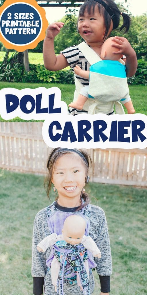 doll carrier free pattern and tutorial two sizes from Life Sew Savory