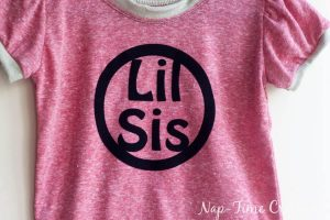 Sibling T-Shirts with Free Iron on Design