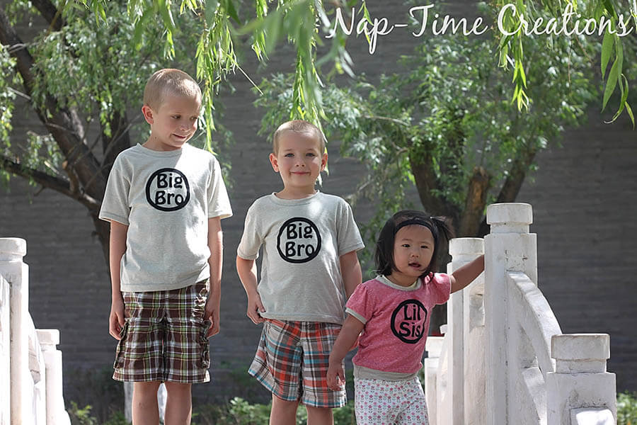 sibling shirts with free iron on file design 4