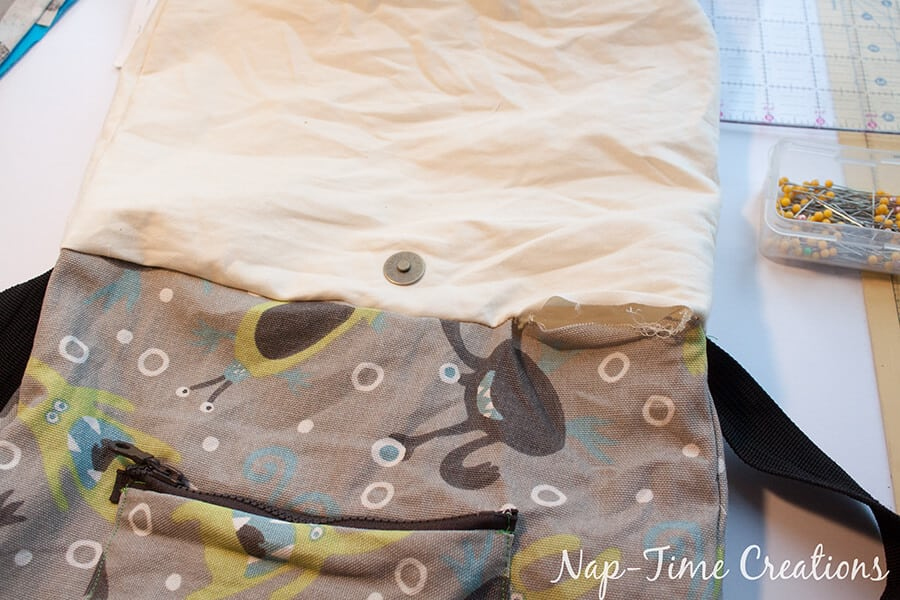 Boys Messenger Bag free pattern and tutorial from Nap-Time Creations 13