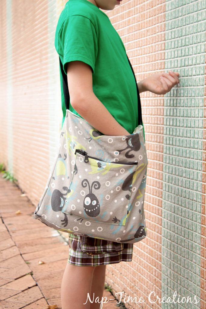 Boys Messenger Bag free pattern and tutorial from Nap-Time Creations 4