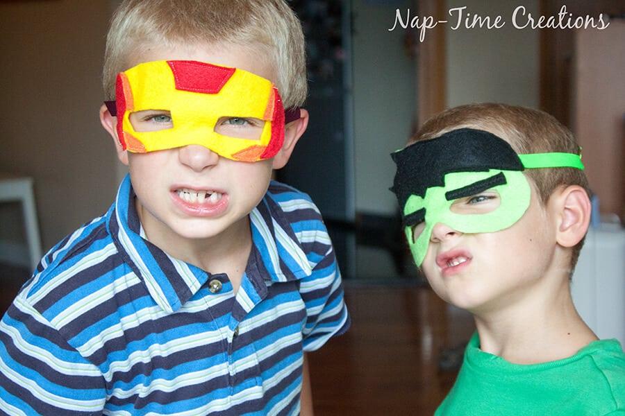 DIY Superhero Masks by Nap-Time Creations