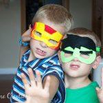 Easy Felt Super Hero Masks