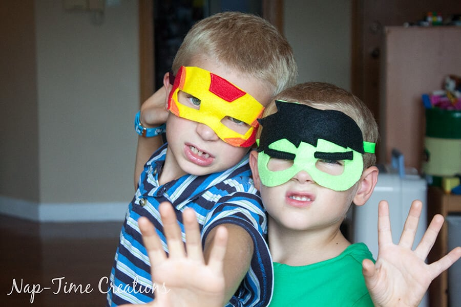 felt superhero masks
