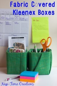 Moms Back to School - Fabric Covered Kleenex Boxes from Nap-Time Creations