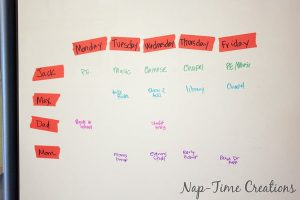Back to School Organization with a Simple Tape Calendar
