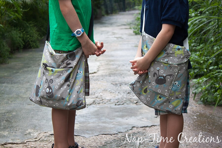 boys messenger bag free pattern and tutorial from Nap-Time Creations 1