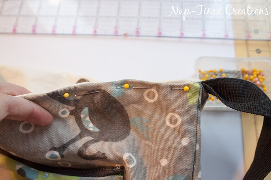 boys messenger bag free pattern and tutorial from Nap-Time Creations 12