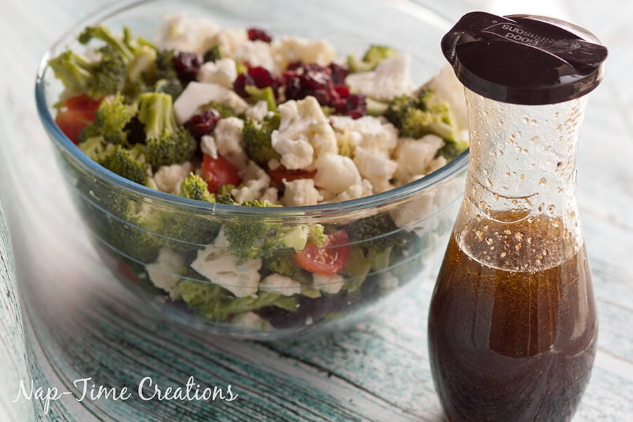 Broccoli Cauliflower and Feta Salad - Nap-time Creations