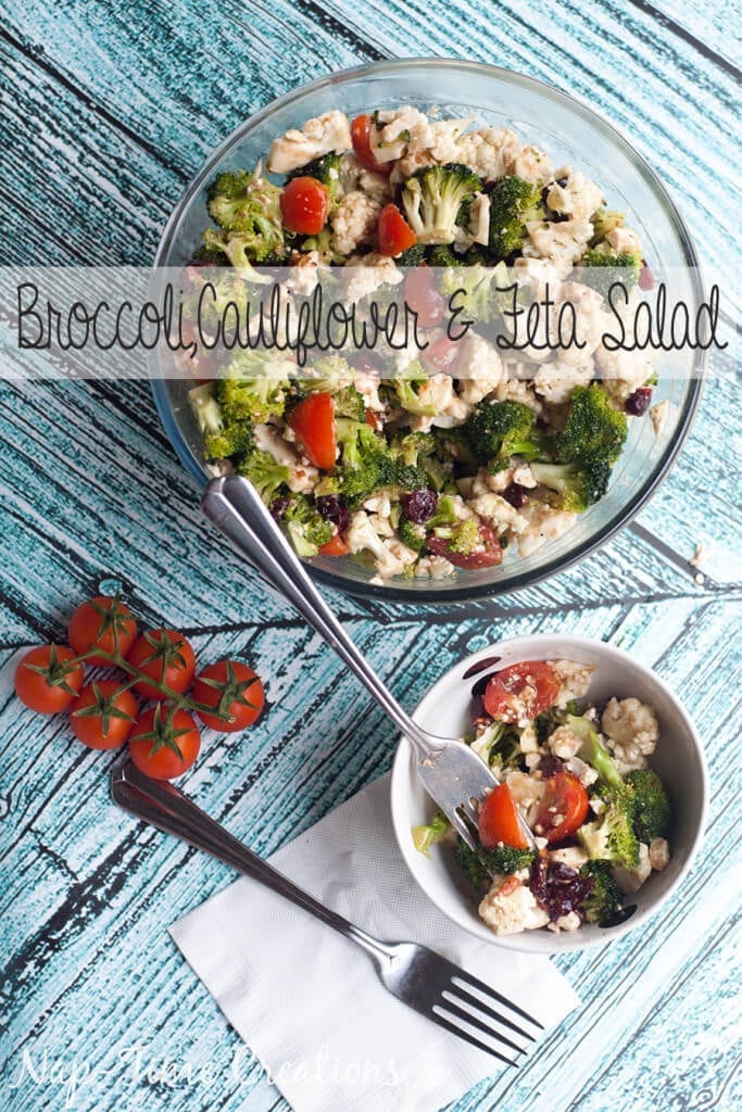 broccoli cauliflower and feta salad from Nap-Time Creations