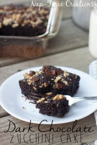 dark chocolate zucchini cake with chia seeds from Nap-Time Creations