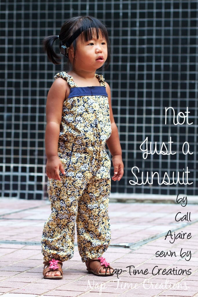 not just a sunsuit pattern tour by Call Ajaire, sewn by Nap-Time Creations