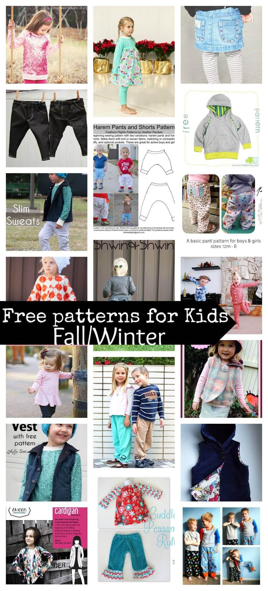 Free patterns for kids